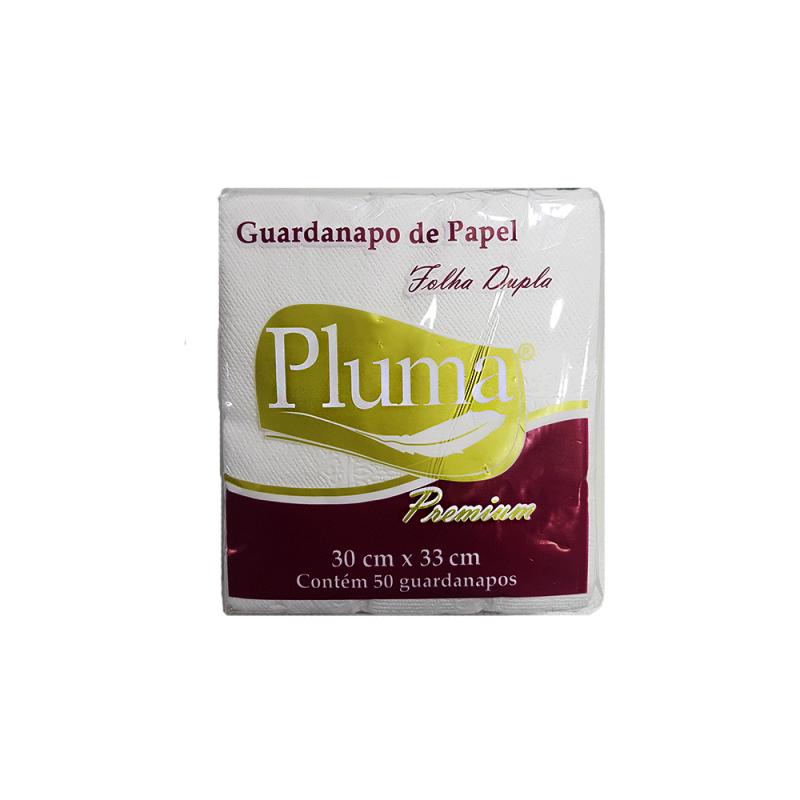 Guardanapo Folha Dupla 30x33 - 50Un - Pluma