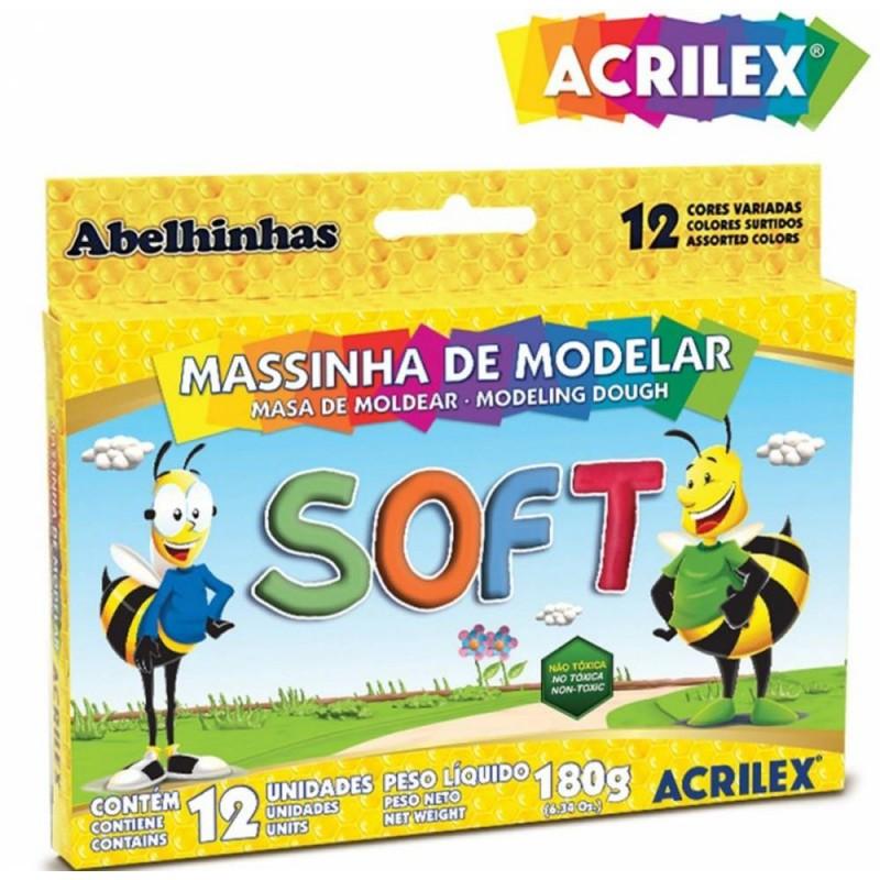 Massinha de Modelar • Soft • 12 cores • Acrilex