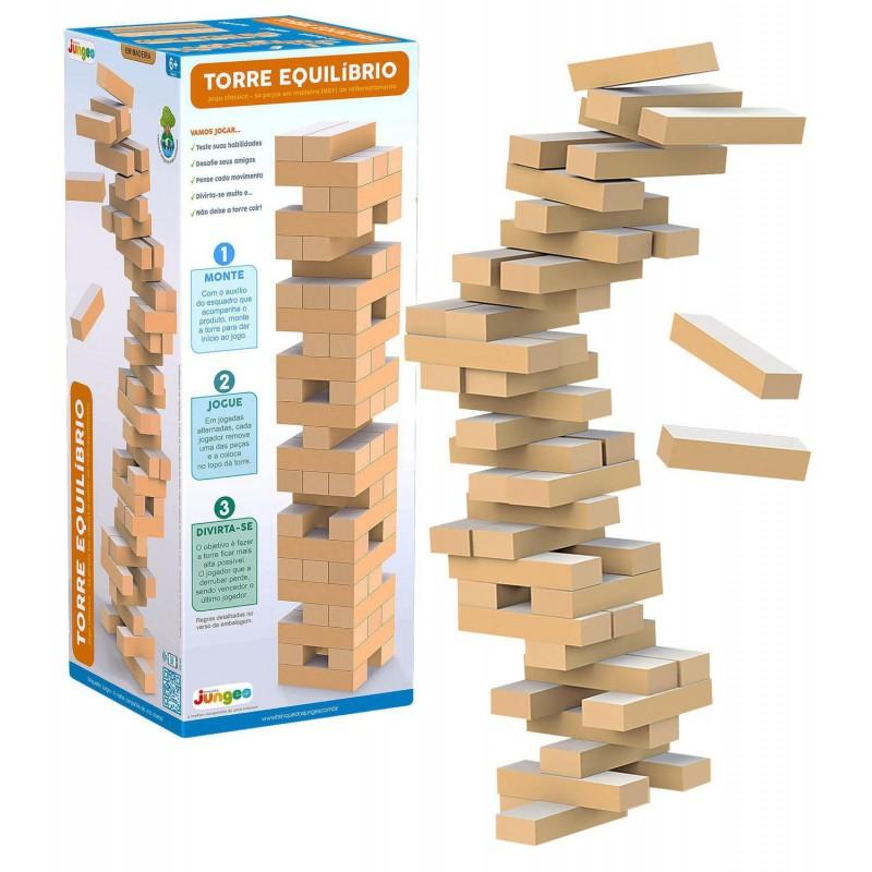 Brinquedo Torre Equilíbrio 54 Peças - Junges