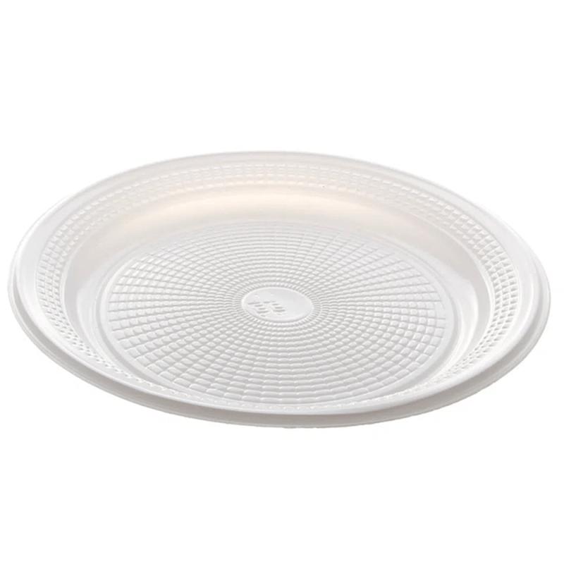 Prato Biodegradável Branco 25cm - 10Un - Trik Trik
