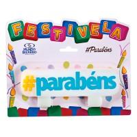Vela Hashtag: #parabéns • FESTIVELA